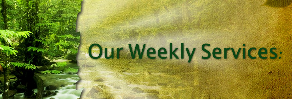 Weekly Services Website Banner